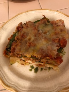 Serving of Zucchini Lasagna