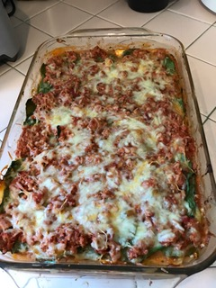 Zucchini Lasagna in pan